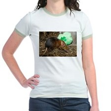Elephant Shrew with Shamrock Jr. Ringer T-Shirt