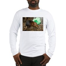 Elephant Shrew with Shamrock Long Sleeve T-Shirt