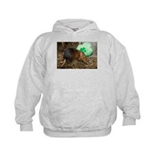 Elephant Shrew with Shamrock Kids Hoodie