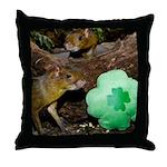 Agouti With Shamrock Throw Pillow