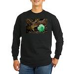 Agouti With Shamrock Long Sleeve Dark T-Shirt