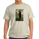 Red Ruffed Lemur with Shamrock Light T-Shirt