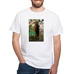 Red Ruffed Lemur with Shamrock White T-Shirt