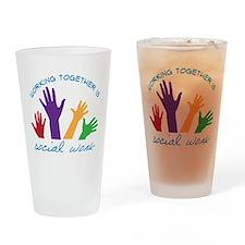 Social Work Drinking Glass