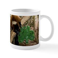 Red Ruffed Lemur Eating Shamrock Mug