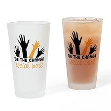 BeThe Change Drinking Glass