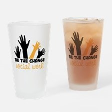 BeThe Change Drinking Glass