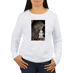 Porcupine With Snowman T-Shirt