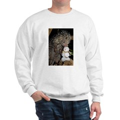 Porcupine With Snowman Sweatshirt