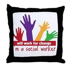 Work For Change Throw Pillow