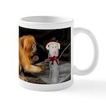 Golden Lion Tamarin With Snowman Mug