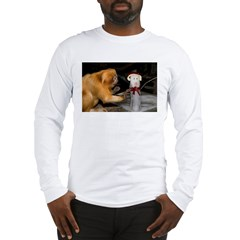 Golden Lion Tamarin With Snowman Long Sleeve T-Shi