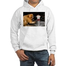 Golden Lion Tamarin With Snowman Hooded Sweatshirt