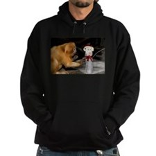 Golden Lion Tamarin With Snowman Hoodie (dark)