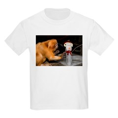 Golden Lion Tamarin With Snowman T-Shirt