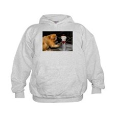 Golden Lion Tamarin With Snowman Kids Hoodie