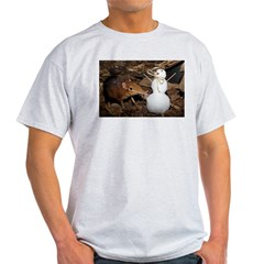 Elephant Shrew with Snowman T-Shirt