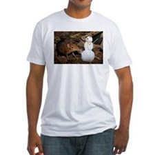 Elephant Shrew with Snowman Fitted T-Shirt