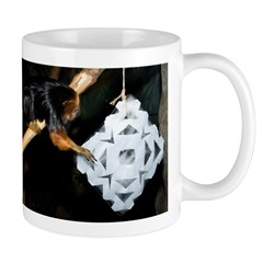 Golden Headed Lion Tamarin Grabbing Snowflake Mug