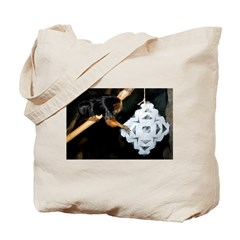 Golden Headed Lion Tamarin Grabbing Snowflake Tote