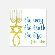 "John 14:6 Square Sticker 3"" x 3"""