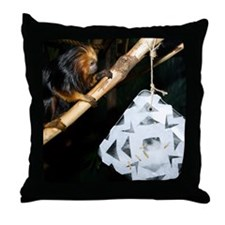 Golden Headed Lion Tamarin With Snowflake Throw Pi