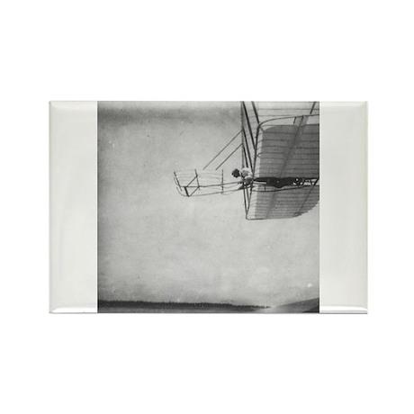 The 1901 Glider Flying Shop Rectangle Magnet (100