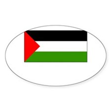 Palestine Flag Picture Oval Decal