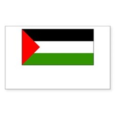 Palestine Flag Picture Rectangle Decal