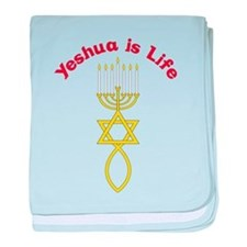 Yeshua Is Life baby blanket