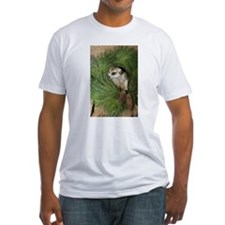 Meerkat In Wreath Fitted T-Shirt
