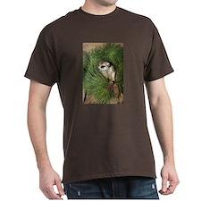 Meerkat In Wreath Dark T-Shirt