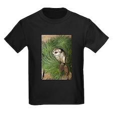 Meerkat In Wreath Kids Dark T-Shirt