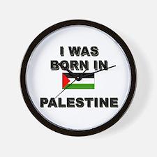 I Was Born In Palestine Wall Clock