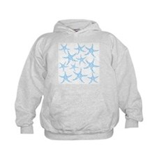 Blue Dotty Starfish Pattern. Hoodie