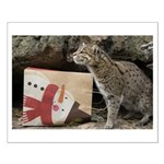 Ocelot with Snowman Bag Small Poster