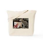 Ocelot with Snowman Bag Tote Bag