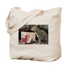 Ocelot with Snowman Bag Tote Bag