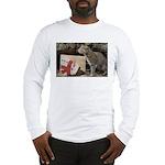 Ocelot with Snowman Bag Long Sleeve T-Shirt