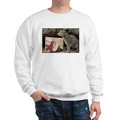 Ocelot with Snowman Bag Sweatshirt