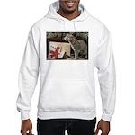 Ocelot with Snowman Bag Hooded Sweatshirt