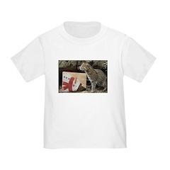 Ocelot with Snowman Bag Toddler T-Shirt
