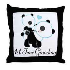 1st Time Grandma panda Throw Pillow