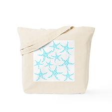 Aqua Dotty Starfish Pattern. Tote Bag
