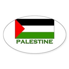 Palestine Flag Stuff Oval Decal