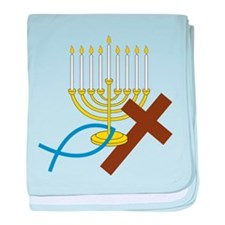 Jewish And Christian baby blanket