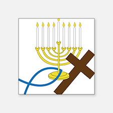 "Jewish And Christian Square Sticker 3"" x 3"""