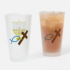 Jewish And Christian Drinking Glass