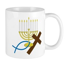 Jewish And Christian Small Mug