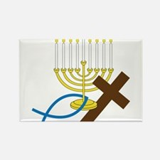 Jewish And Christian Rectangle Magnet